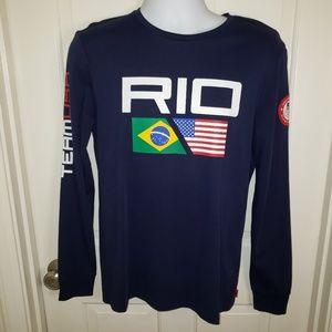 Polo RL Men's Rio Olympics Long Sleeved Shirt NWOT